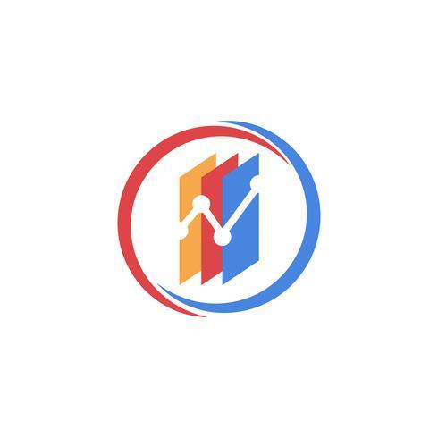 contabilidade, financiar vetor de modelo de logotipo criativo isolado