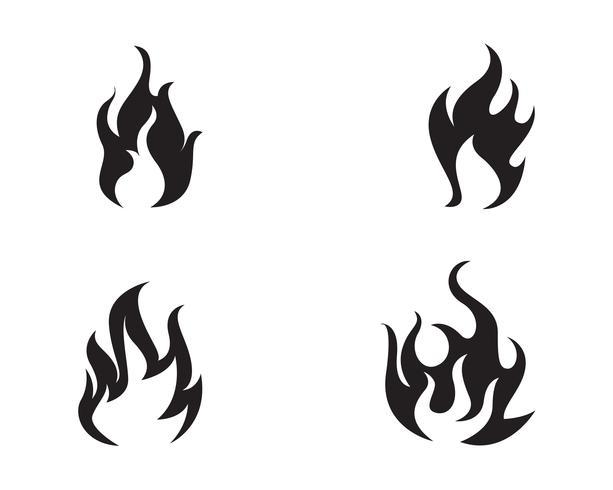 Projeto de ilustração vetorial de chama de fogo vetor