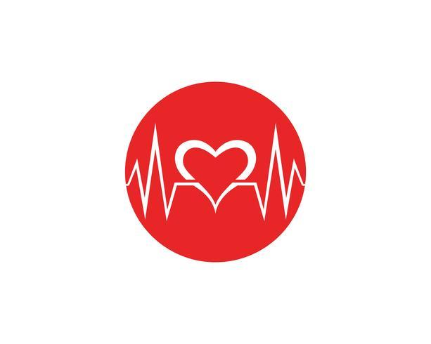 Pulsação médica do coração da saúde do projeto da arte vetor