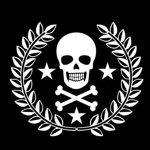 emblema militar com crânio, vetor