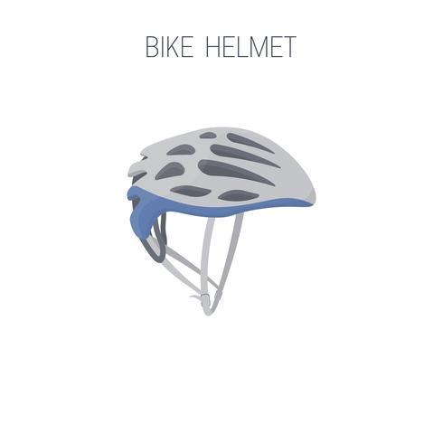 Ícone de capacete de bicicleta de triatlo. vetor