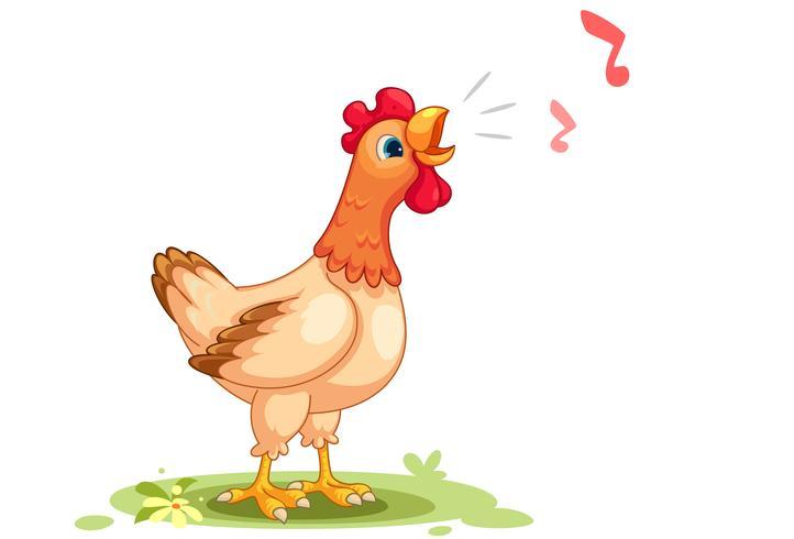 Caricatura, vetorial, ilustração, de, galinha vetor