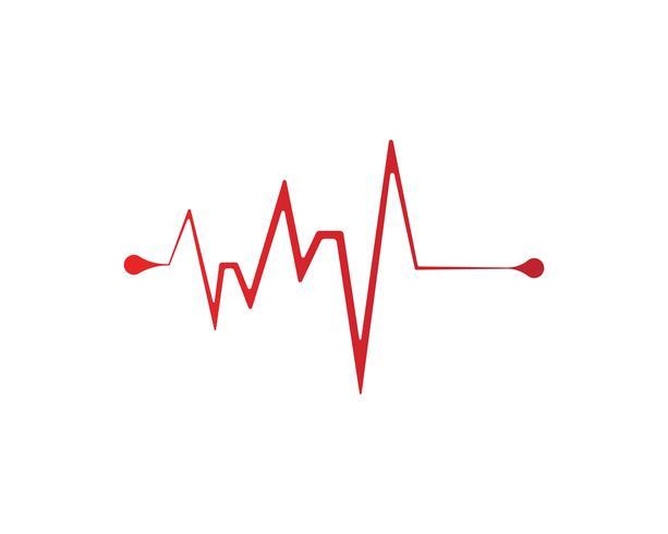 vetores de linha de batida de coração