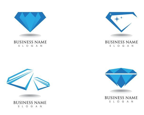Ícone de modelo de vetor de símbolo de logotipo de diamante
