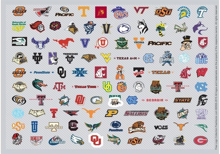 Logotipos de Cesta Masculina NCAA Pt2 vetor