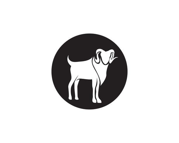 Cabra preto animais vetor logotipo e símbolo