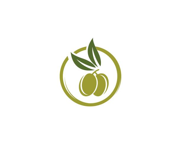 ícone de vetor de modelo de logotipo verde-oliva