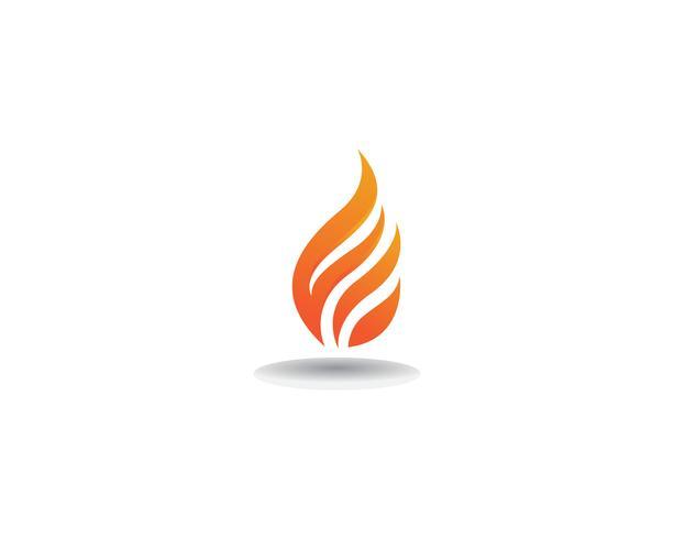 Ícone de vetor logotipo modelo de fogo Conceito de logotipo óleo, gás e energia