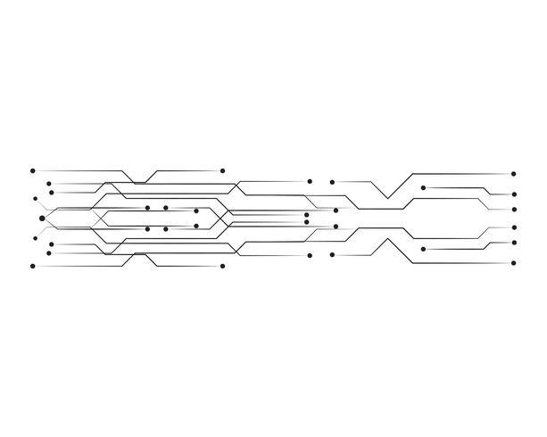 linha de modelo de vetor de ilustração de circuito