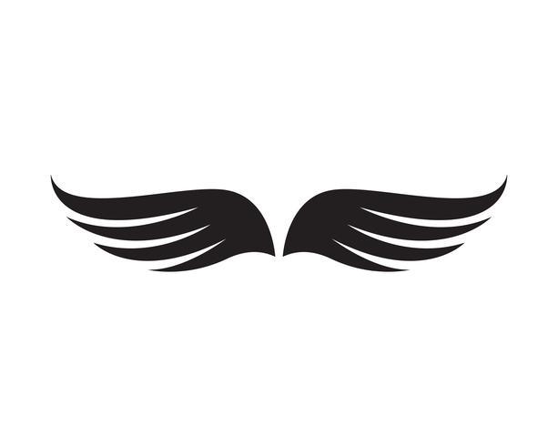 Flacon wing template vector design de ícones