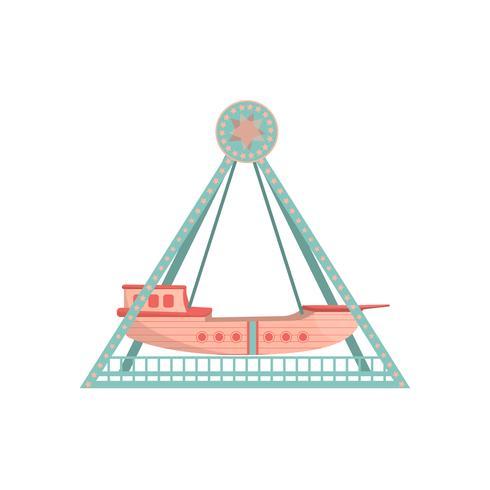 Ícone de passeio de navio dos desenhos animados. vetor