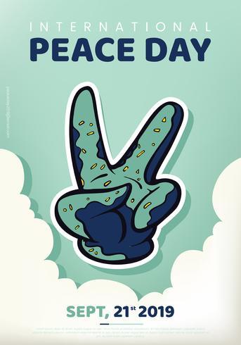 Design de vetor do dia internacional da paz