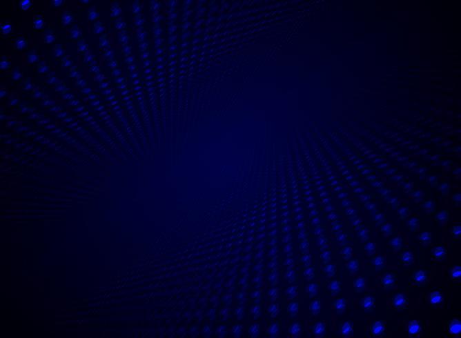 Teste padrão de pontos azul dinâmico da partícula futurista abstrata do visualização dos dados da tecnologia no fundo e na textura da escuridão com espaço da cópia. vetor