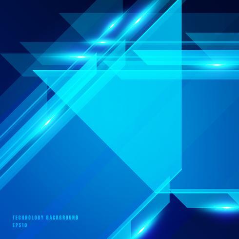 Fundo brilhante do movimento da cor azul geométrica abstrata da tecnologia. Modelo para folheto, impressão, anúncio, revista, cartaz, site, revista, folheto, relatório anual vetor