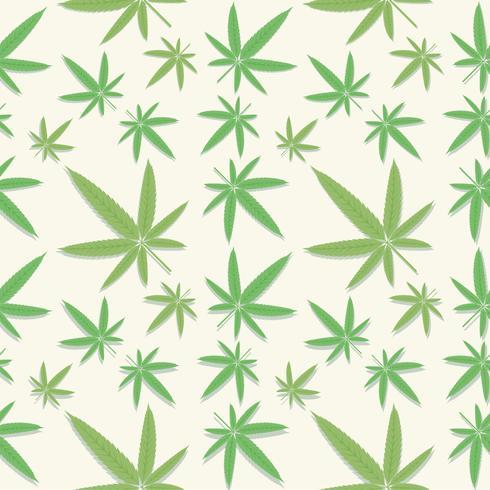 Cannabis verde folhas padrão vetor