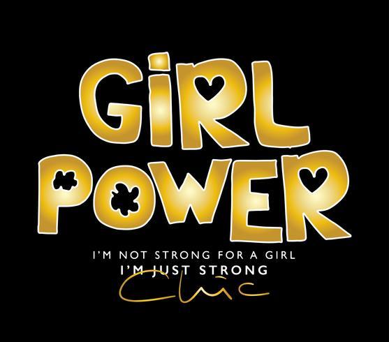 Menina, poder, conceito, desenho vetor