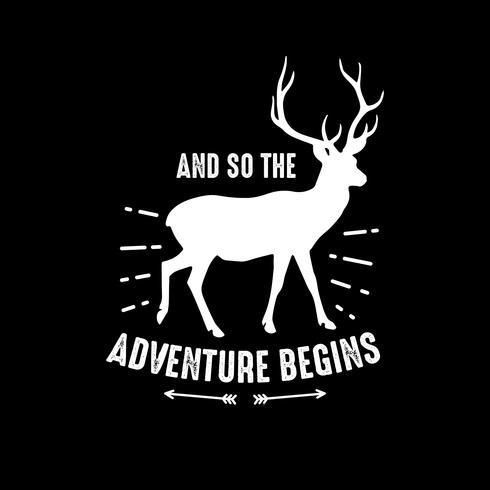 Citação de aventura e dizer, bom para impressão vetor