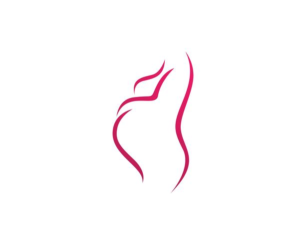 mulher grávida tocando sua barriga. Gravidez vetor