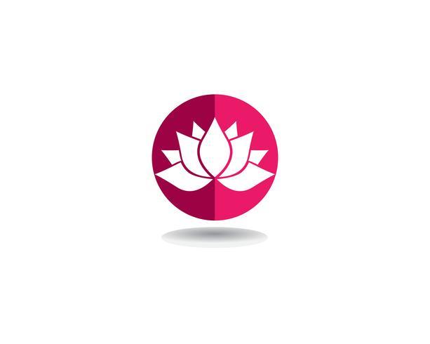Vetor de beleza Flores de lótus desenha logotipo Ícones de modelo