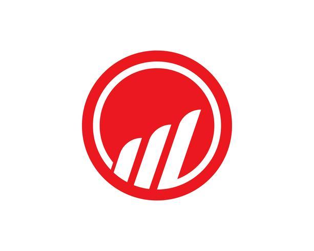 Finanças de logotipo e símbolos de comércio vetor