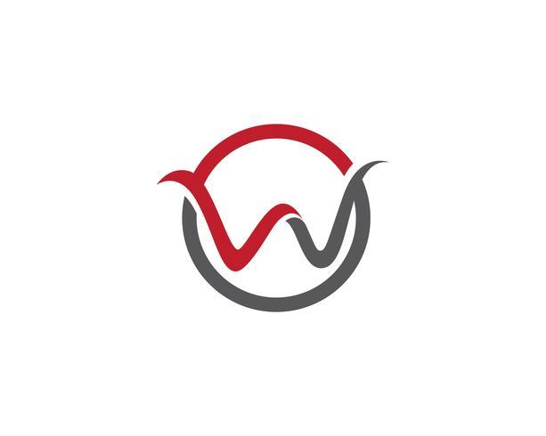 Logotipo e símbolo de w vetor