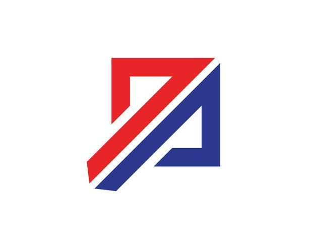 Logotipo de finanças de negócios e modelo de app de símbolos vetor