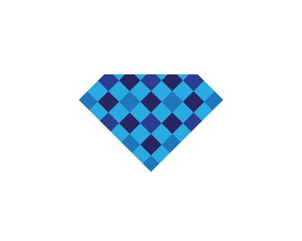 Modelo de logotipo de diamante vector icon ilustração design