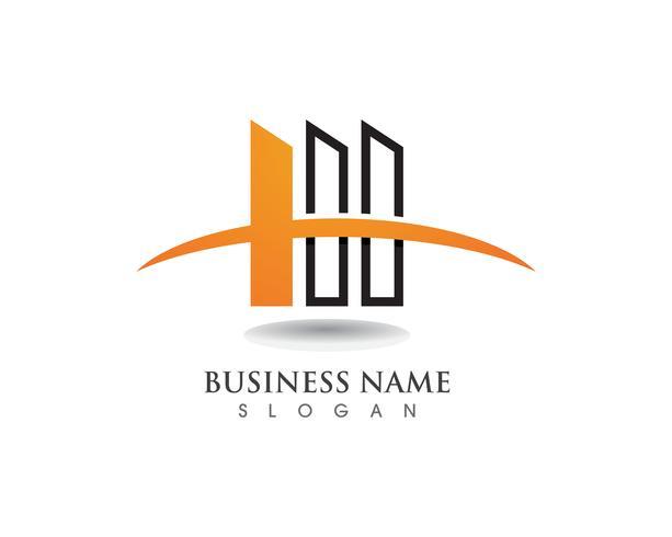 Logotipo do negócio de finanças e vetor de símbolo