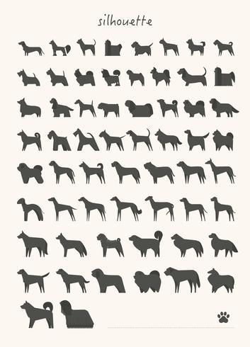 Várias raças de cães specimen Mega set. vetor