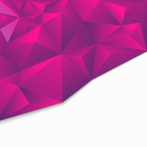 Origami geométrico poligonal abstrato, estilo 3d vetor