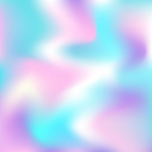 Vector fundo abstrato holográfico em cores neon