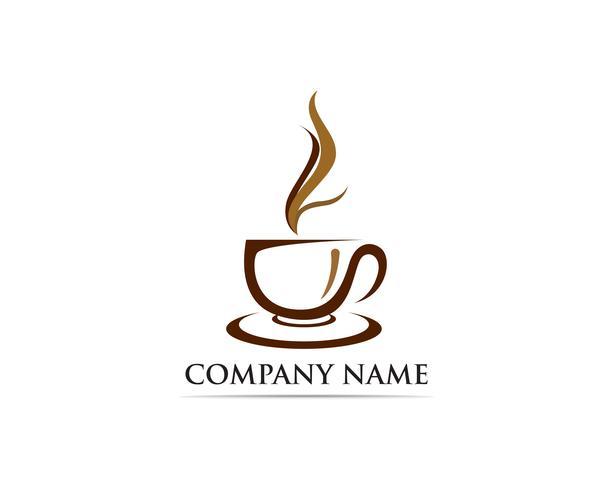 Coffee cup Logo Template ícone de vetor