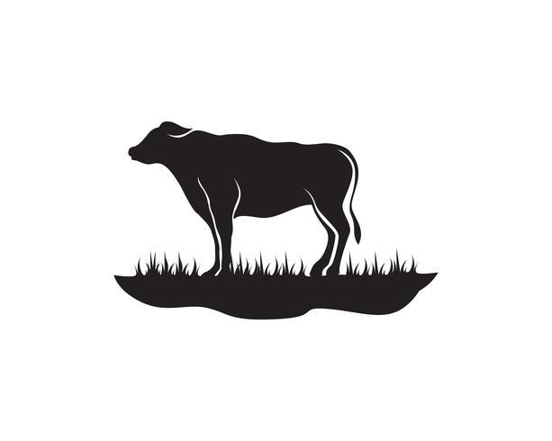 Modelo de logotipo de vaca vector icon ilustração