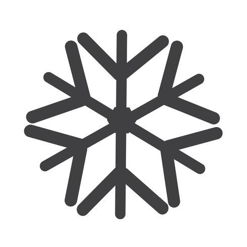 Sinal de símbolo de ícone de floco de neve vetor