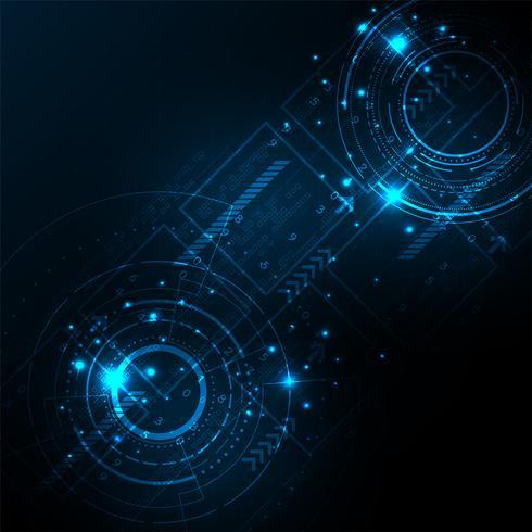 Tecnologia no conceito de digital. vetor