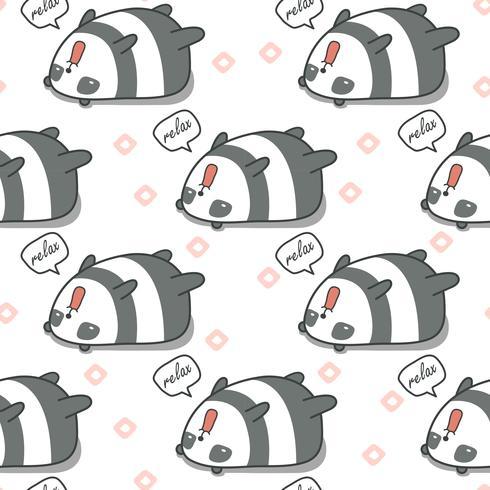 Panda sem emenda é padrão preguiçoso. vetor