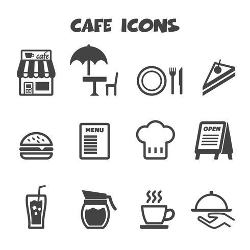 símbolo de ícones de café vetor