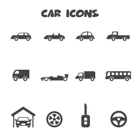 símbolo de ícones de carro vetor