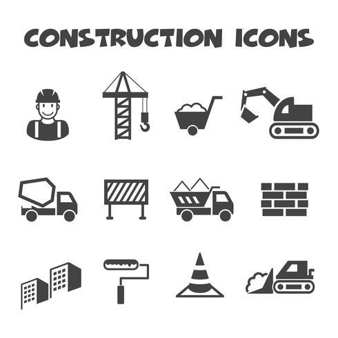 símbolo de ícones de construção vetor