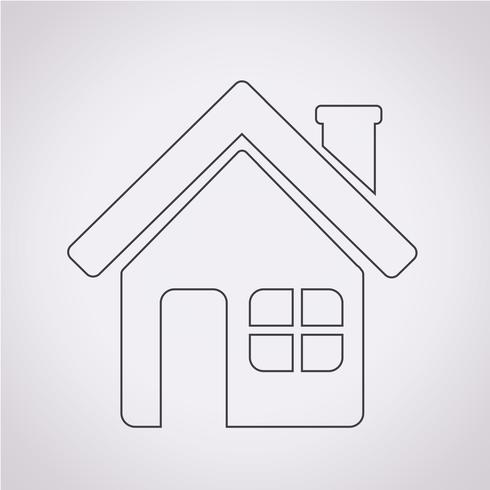 Casa, símbolo, sinal símbolo vetor