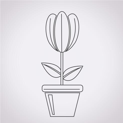 flor ícone símbolo sinal vetor