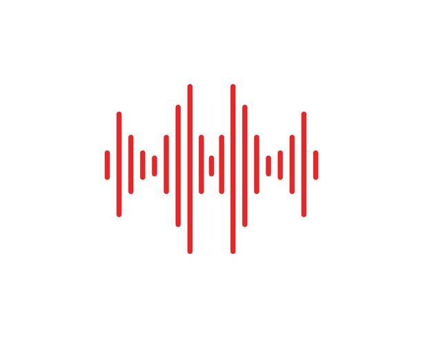 ilustração de onda sonora vetor