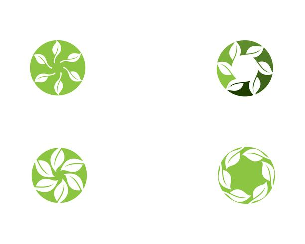 vetor de elemento de natureza ecologia logotipo