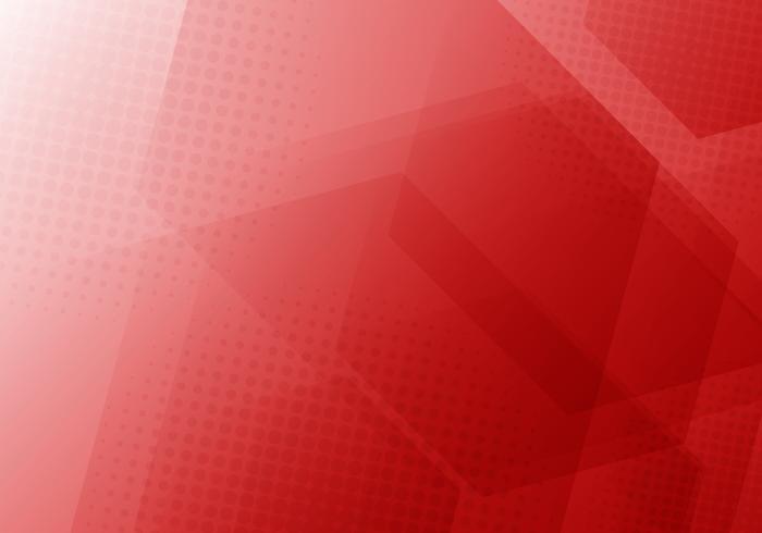 Fundo de sobreposição dos hexágonos geométricos vermelhos abstratos com textura radial de intervalo mínimo. vetor