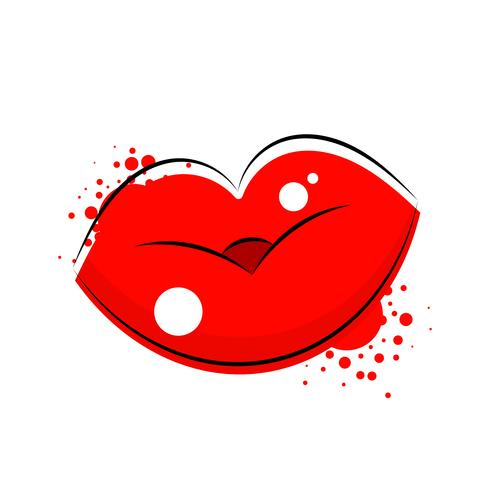 Logotipo de lábios de mulheres s para t-shirt, panfletos, gráficos da web. Vetor
