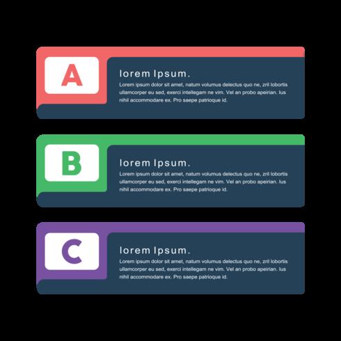 Conceito de banners de png vector criativo mínimo