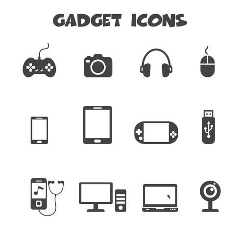símbolo de ícones de gadget vetor