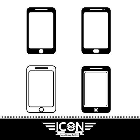 sinal de símbolo de ícone de smartphone vetor