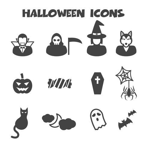 símbolo de ícones do dia das bruxas vetor