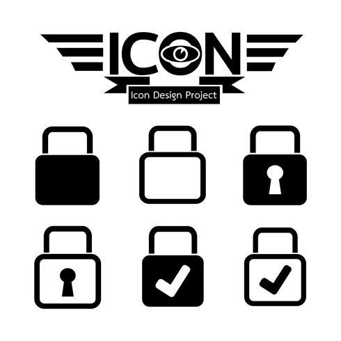 Sinal de símbolo de ícone de bloqueio vetor